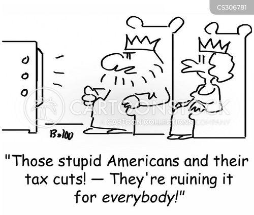 cutting taxes cartoon