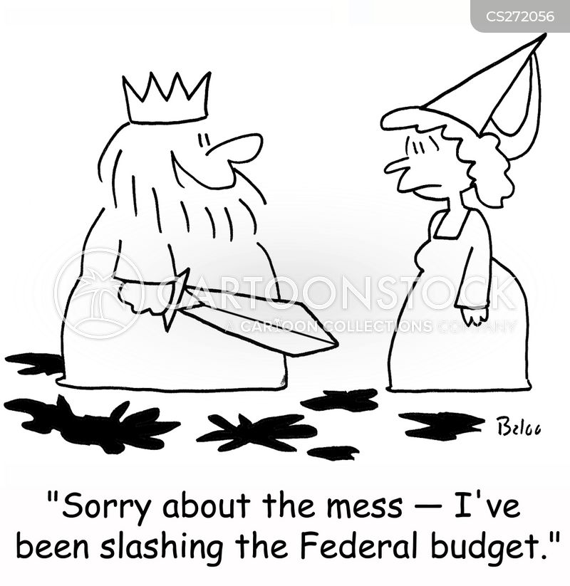economic cut cartoon