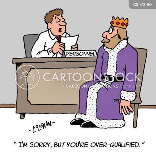 over qualified cartoon