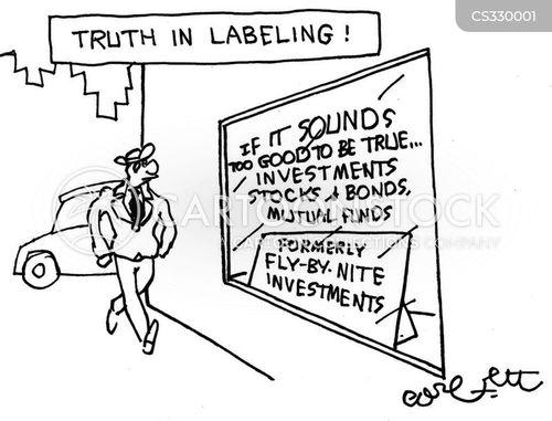 labelling cartoon
