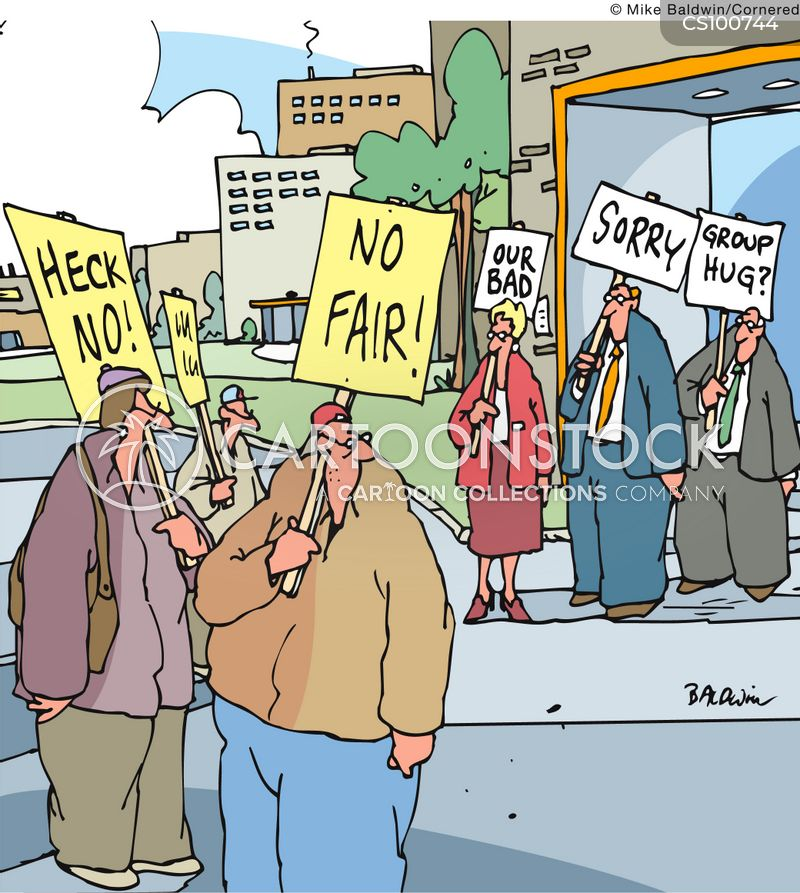 labour protests cartoon