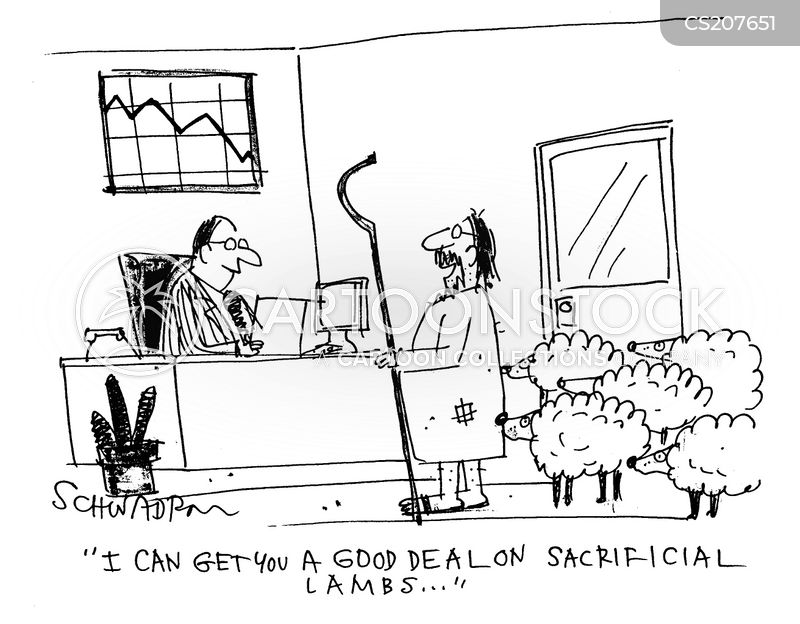 sacrificial lambs cartoon