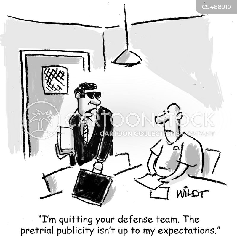 pre-trial cartoon