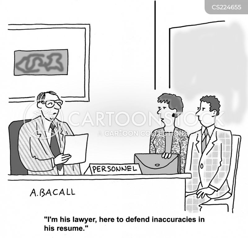 lying on resume cartoons and comics funny pictures from cartoonstock