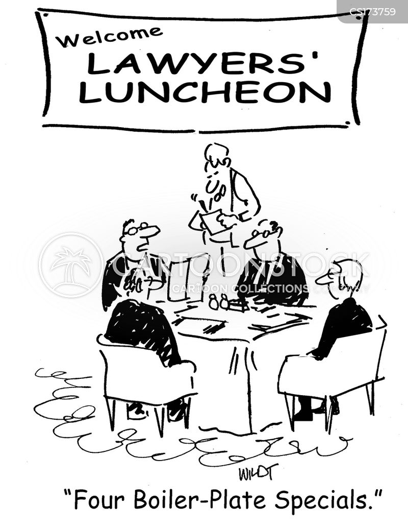 business lunches cartoon