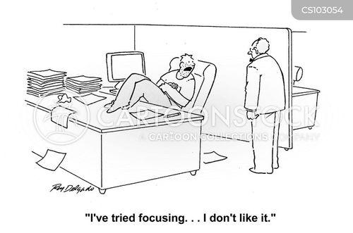 losing focus cartoon