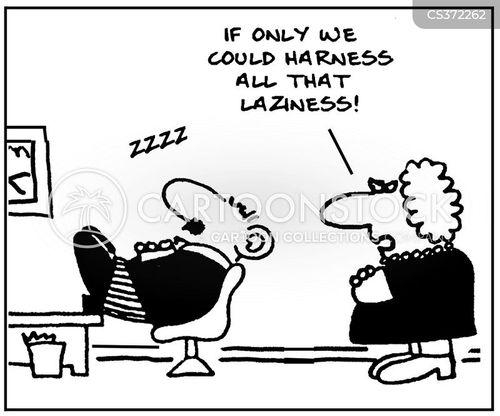 sleeping at work cartoon