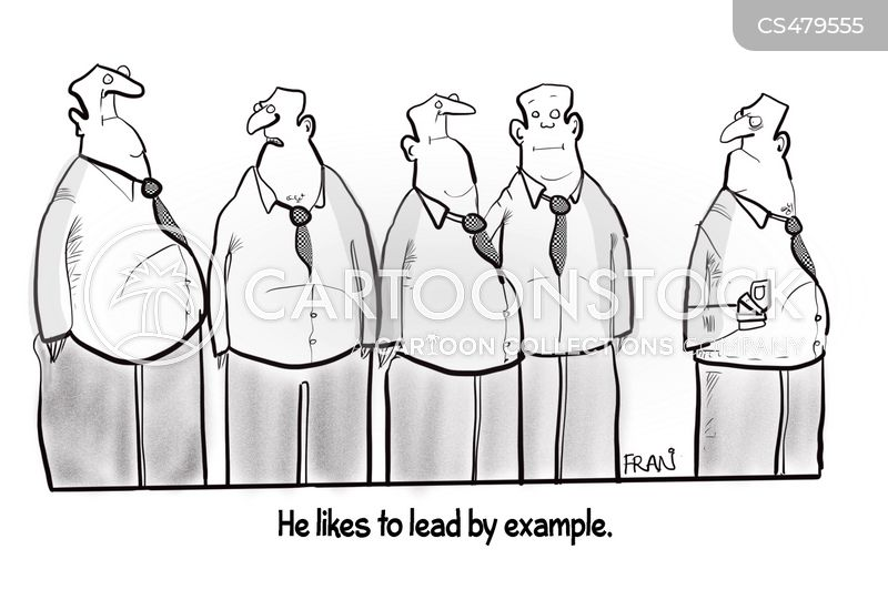 leading by example cartoon