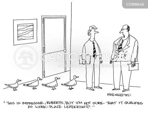 leadership skill cartoon