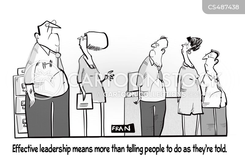 effective leadership cartoon