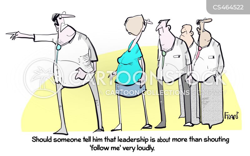 good leader cartoon