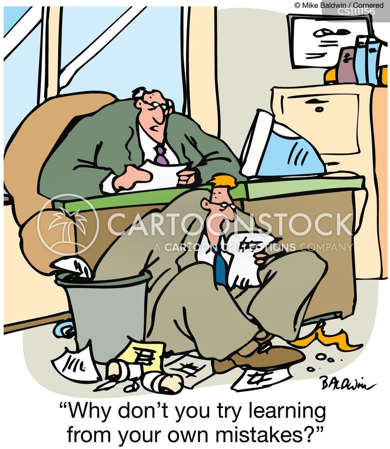 learning from mistakes cartoon