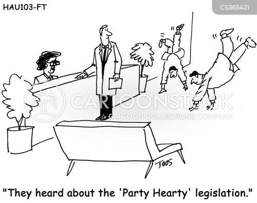 party hearty cartoon