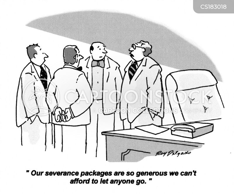 severance packages cartoon