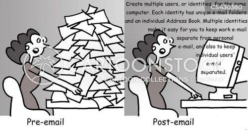 letter writing cartoon