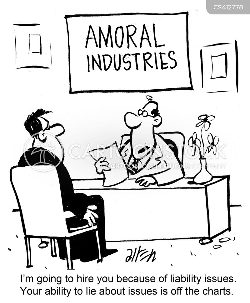 business morals cartoon