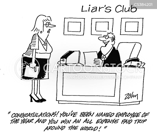 liars club cartoon
