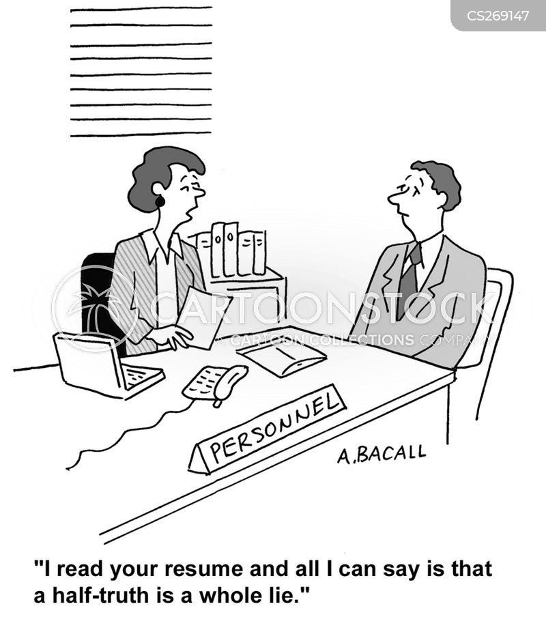 half-truth cartoon