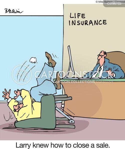insurance salesmen cartoon