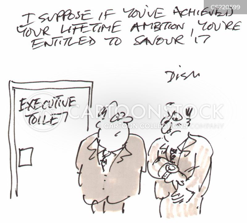 Executive Cartoon: Executive Toilet Cartoons And Comics