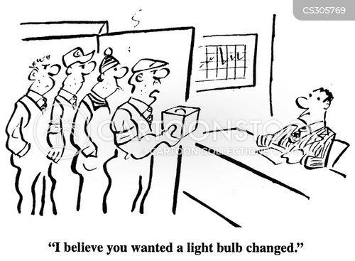 changing a light bulb cartoon