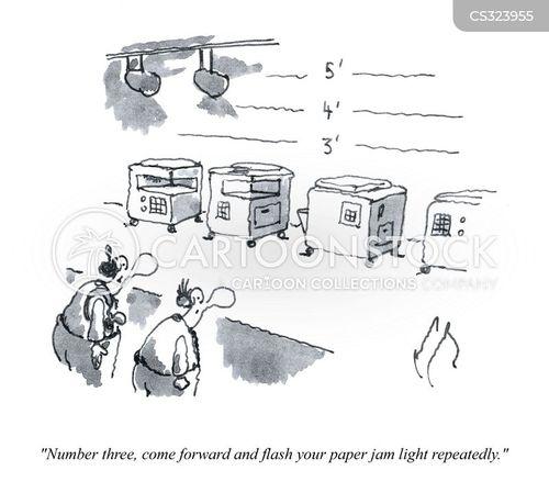 paper jam cartoon