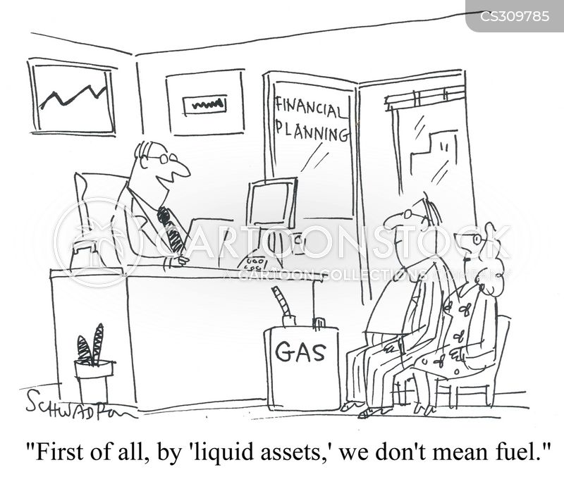 liquid assets cartoon