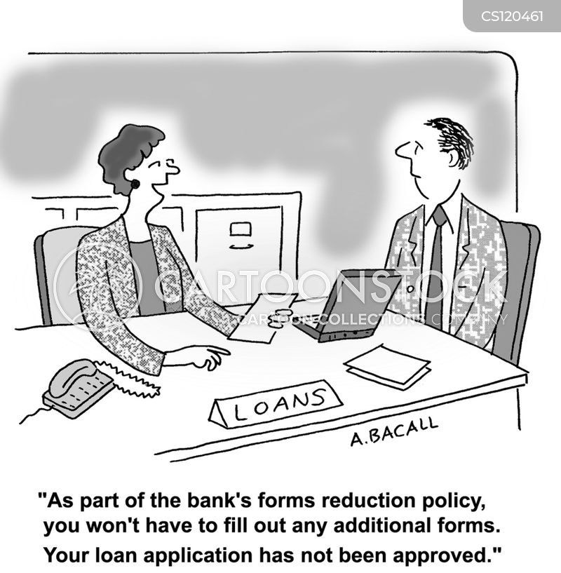 loaning money cartoon
