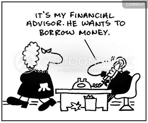 emergency loan cartoon