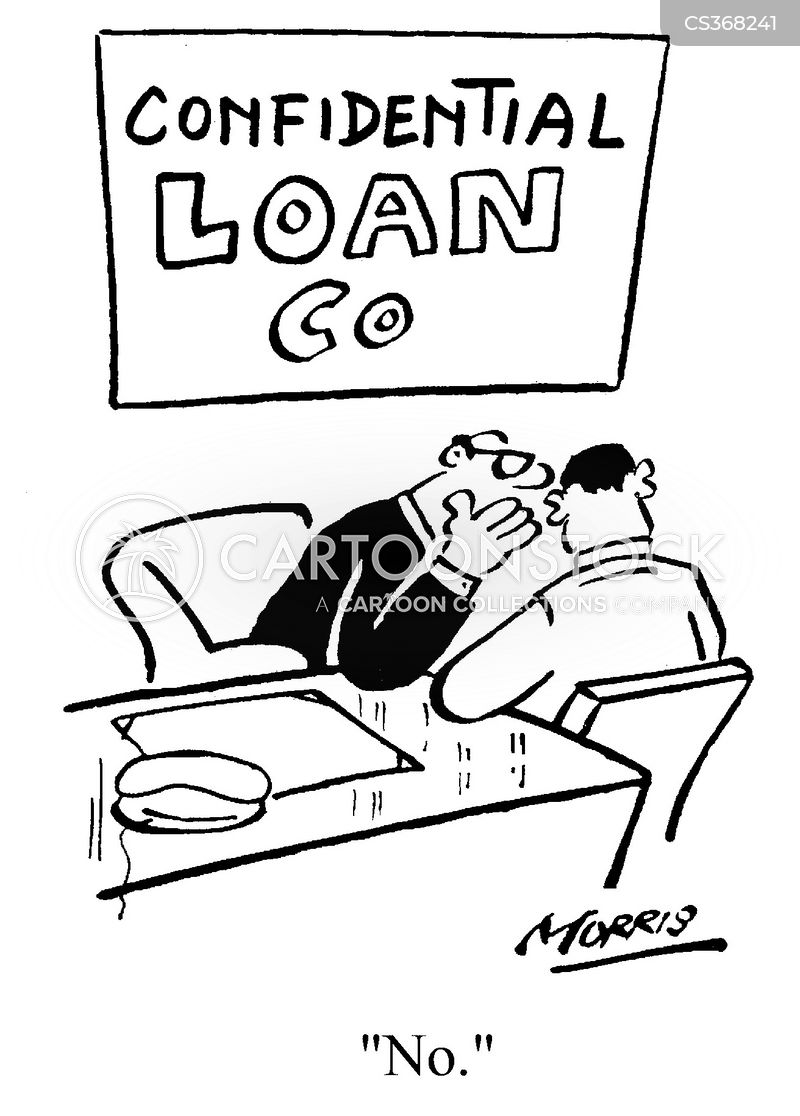 loan refusals cartoon
