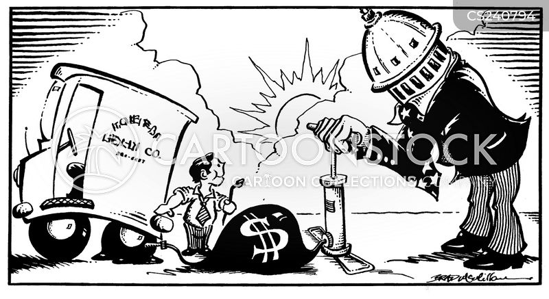 pumping up cartoon