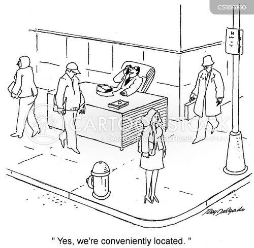 city centre cartoon
