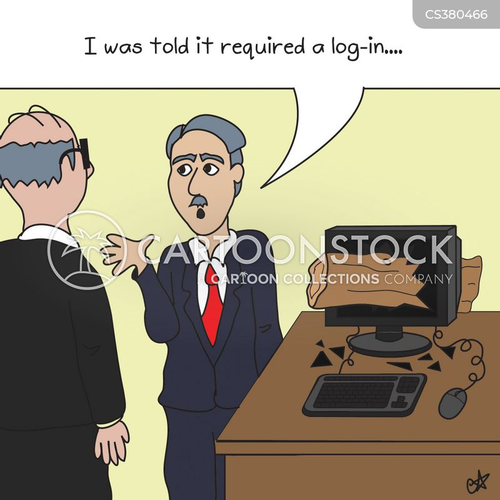 logins cartoon