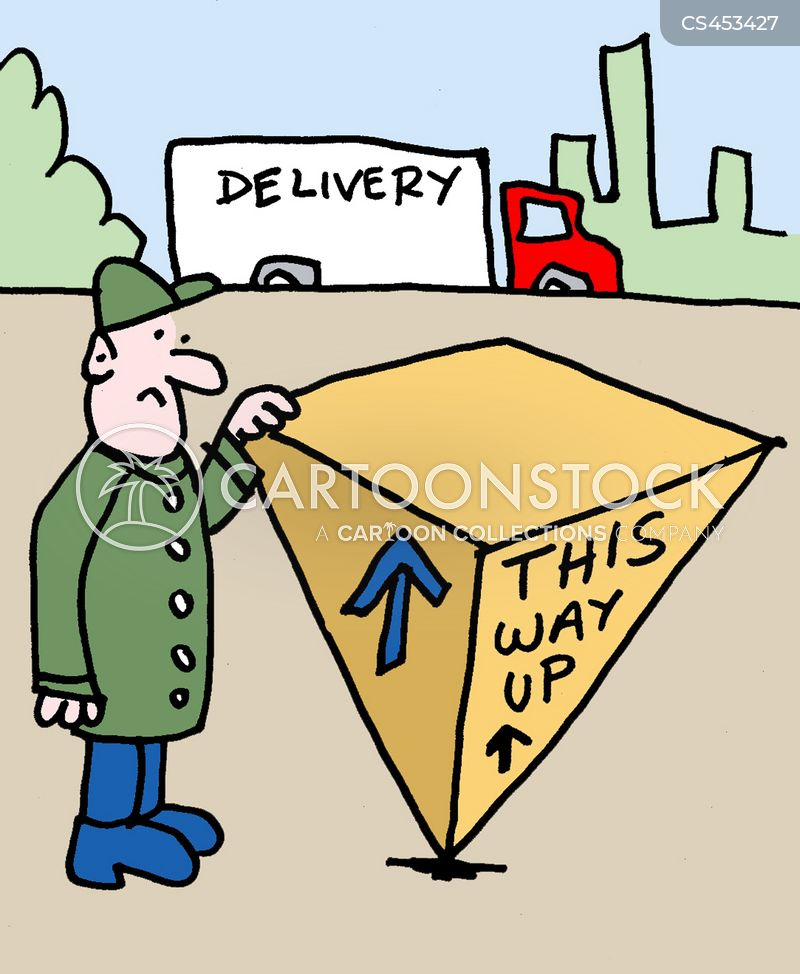 delivery driver cartoon