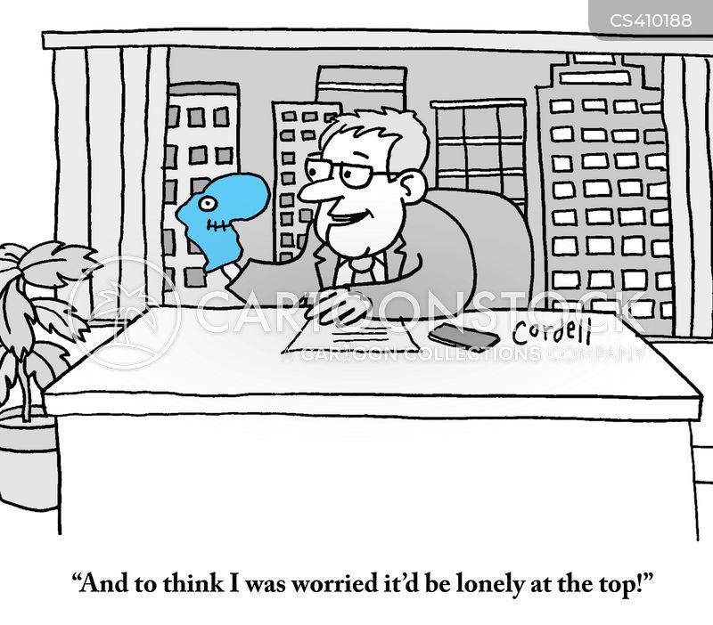 lonely at the top cartoon