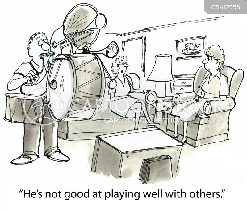 one-man-band cartoon