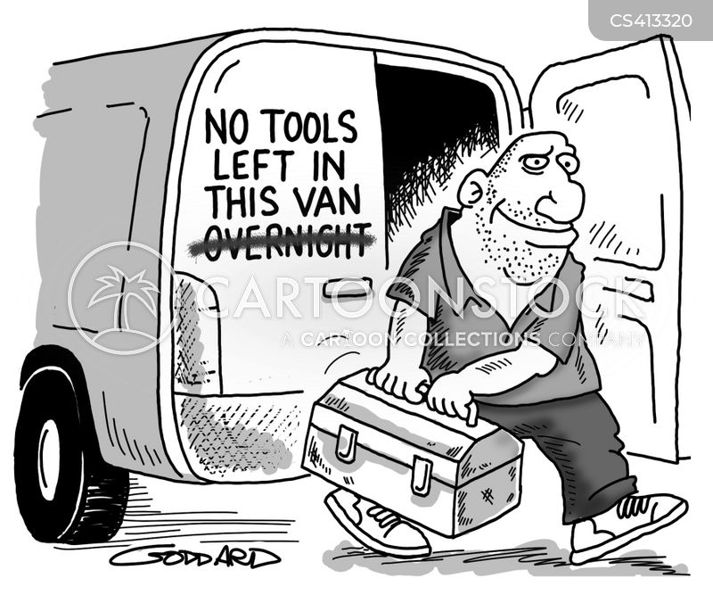 toolboxes cartoon