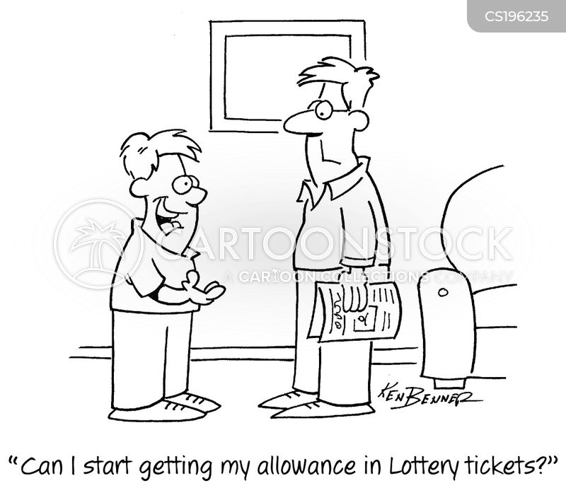 lottery tickets cartoon