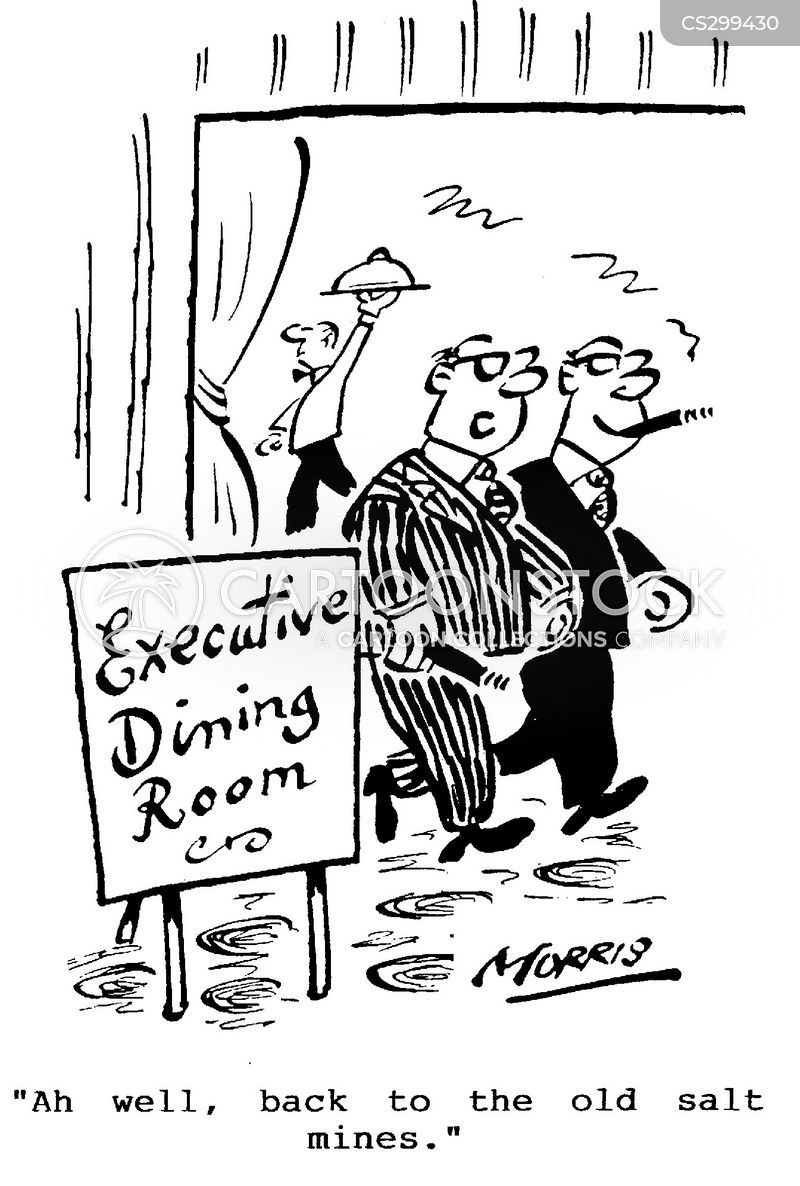 executive dinner cartoon