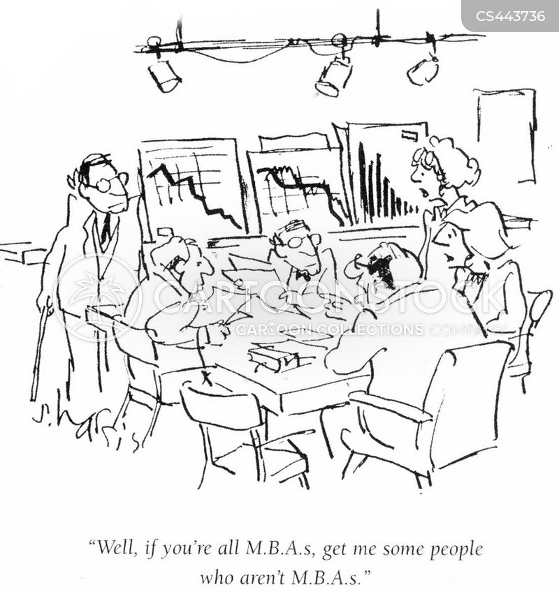 m.b.a. cartoon