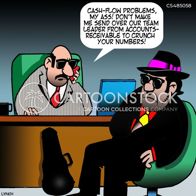 cash flow problems cartoon