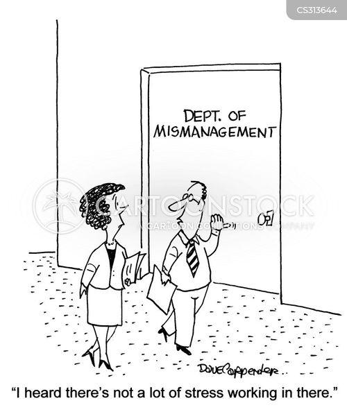 high stress job cartoon