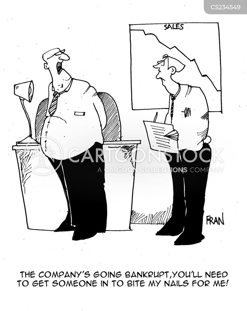going bankrupt cartoon