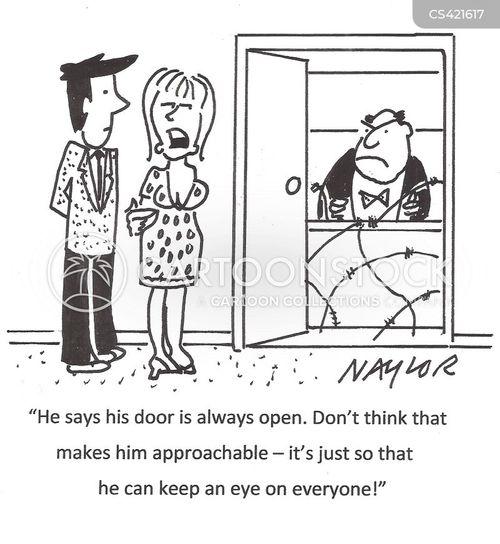 open-door policy cartoon