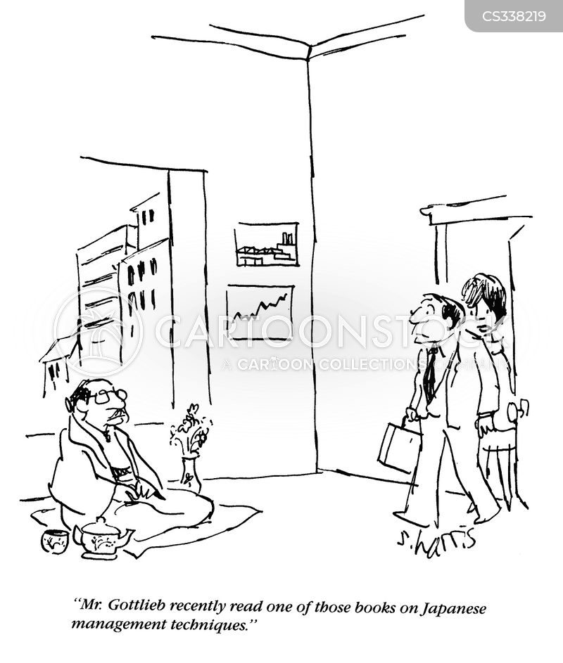 japanese businessman cartoon
