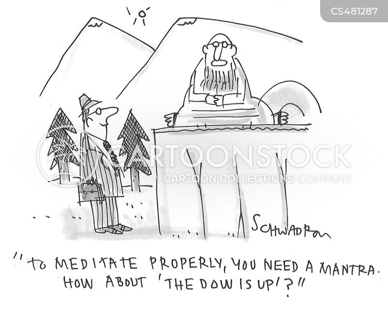 the dow is up cartoon