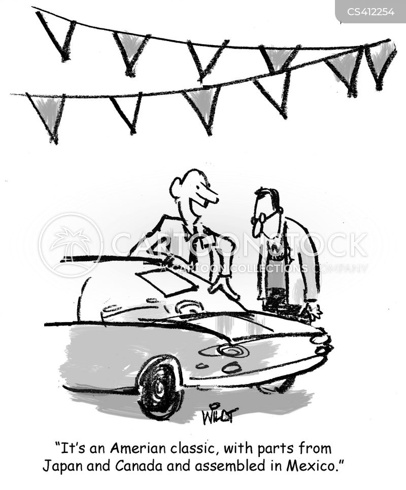 American Car Cartoons And Comics