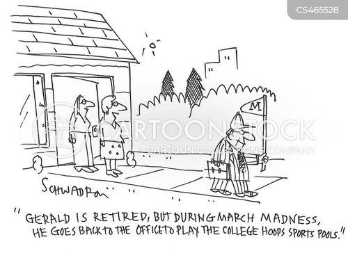 college basketball cartoon