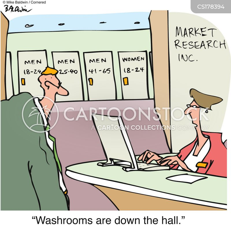 washroom cartoon