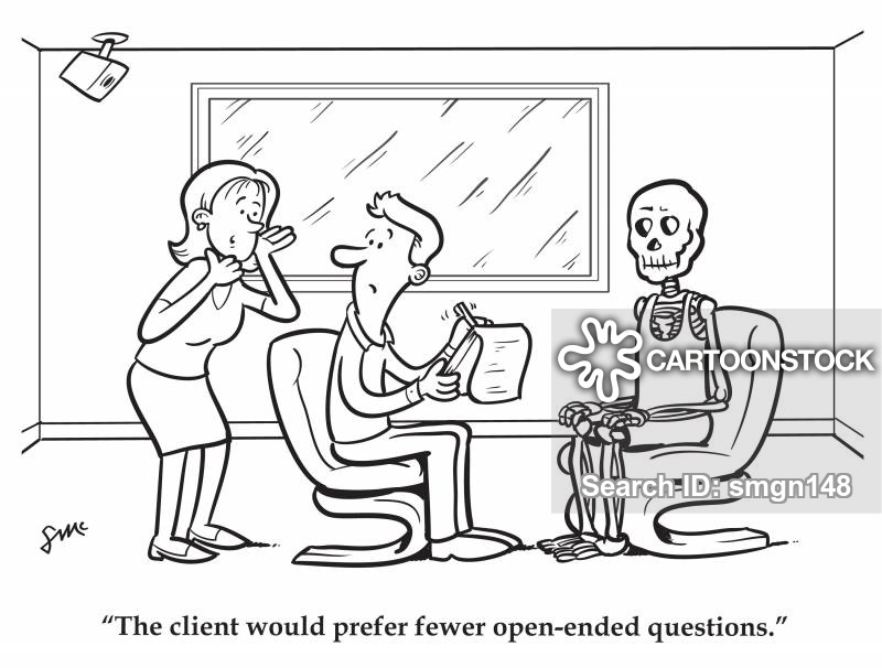 open-ended questions cartoon